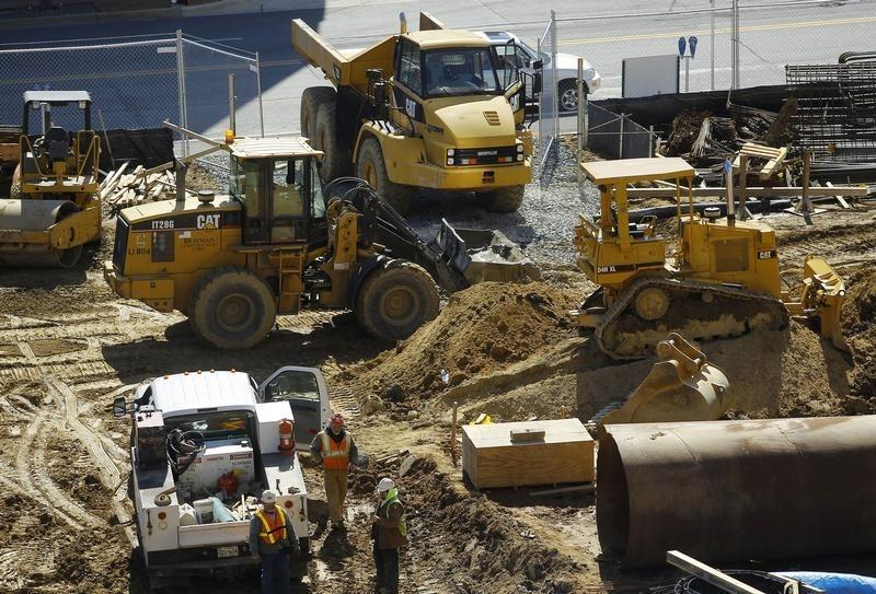 A construction site is seen in Silver Spring Maryland
