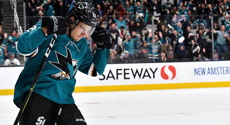 Timo Meier and the Sharks are on a three-game win streak. (Photo by Brandon Magnus/NHLI via Getty Images)