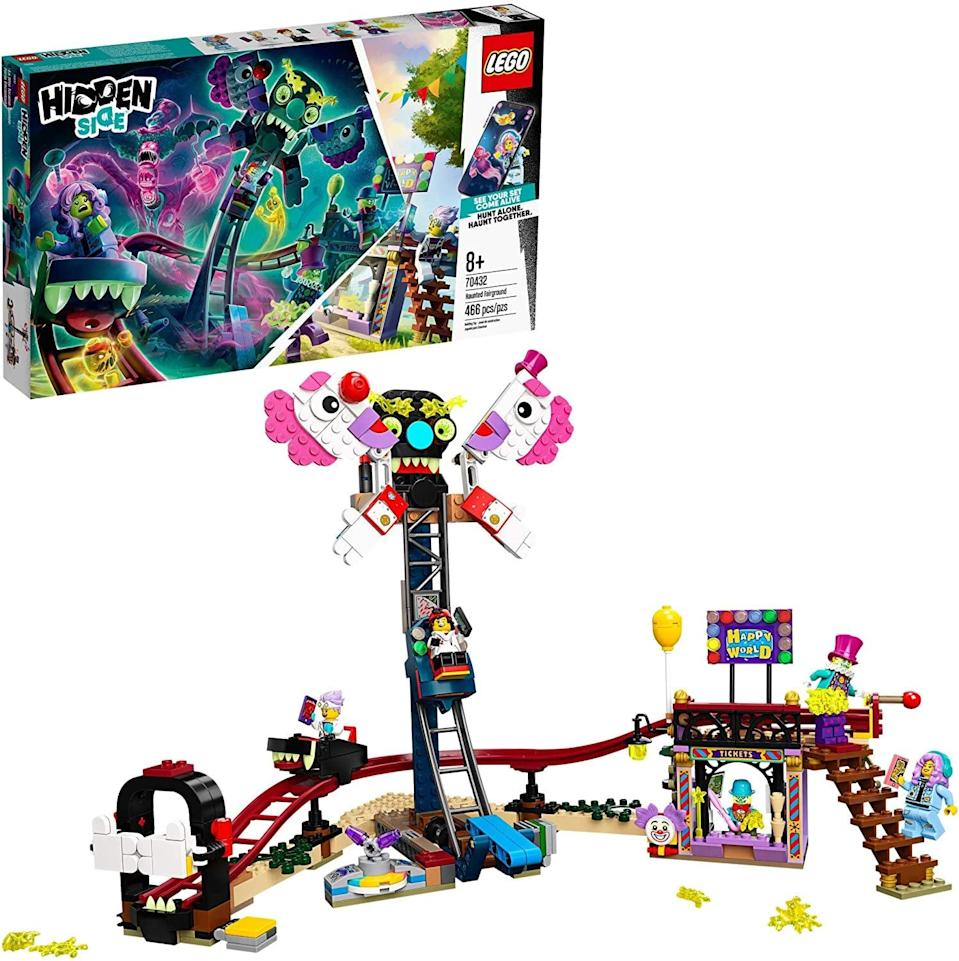 <p>The <span>Lego Hidden Side Haunted Fairground</span> ($40) has 466 pieces and is best suited for kids ages 8 and up.</p>