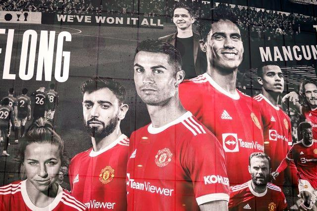 Cristiano Ronaldo has been added to the player mural at Old Trafford