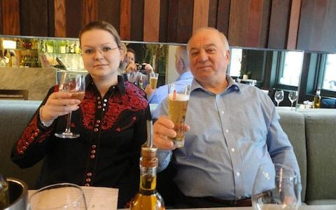 Fea0081946 Sergei Skripal with his daughter Yulia. - Credit: Social media/EAST2WEST NEWS