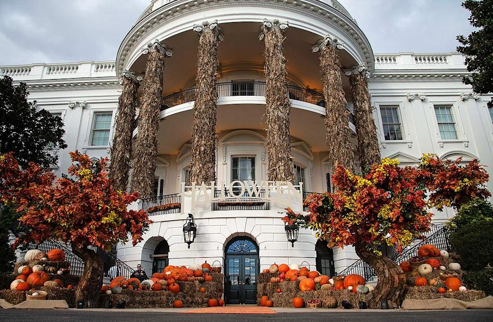 <p>The White House was decorated for Halloween for the first time in 1958. </p> <p>First Lady Mamie Eisenhower helped put the festive decorations up both indoors and outdoors, then she hosted a lunch for the wives of staff members in the State Dining Room.</p>