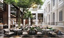 "<p>This sleek new hotel is sure to become an architectural landmark in Phnom Penh, with plenty of details that nod to traditional Cambodian design. <a href=""https://www.hyatt.com/en-US/hotel/cambodia/hyatt-regency-phnom-penh/pnhrp"" rel=""nofollow noopener"" target=""_blank"" data-ylk=""slk:Hyatt Regency Phnom Penh"" class=""link rapid-noclick-resp"">Hyatt Regency Phnom Penh</a> will be home to 247 rooms and suites which offer sustainable amenities and innovative touches that will define this new age of travel. Guests will be able to dine with spectacular views of the Royal Palace and Mekong River and are in walking distance to some of the city's biggest attractions.</p><p><em>Hyatt Regency Phnom Penh is expected to open on January 15, 2021 with rates starting at $180 per night. </em></p>"