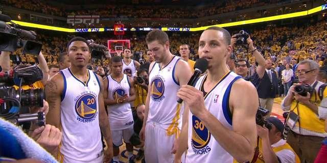 Warriors come back onto court to thank Oracle Arena fans after losing to Spurs (Video)