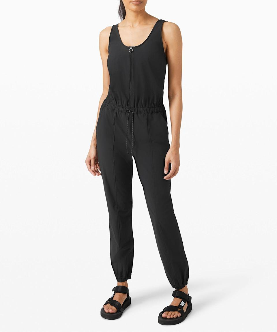 """<p><strong>Lululemon</strong></p><p>lululemon.com</p><p><a href=""""https://go.redirectingat.com?id=74968X1596630&url=https%3A%2F%2Fshop.lululemon.com%2Fp%2Fskirts-and-dresses-dresses%2FShift-in-Time-Jumpsuit-MD%2F_%2Fprod10020066&sref=https%3A%2F%2Fwww.seventeen.com%2Ffashion%2Fg30519407%2Fdoes-lululemon-have-sales%2F"""" rel=""""nofollow noopener"""" target=""""_blank"""" data-ylk=""""slk:Shop Now"""" class=""""link rapid-noclick-resp"""">Shop Now</a></p><p><strong><del>$148</del> $99 (33% off)</strong></p><p>A whole entire outfit for $99? It's really a bargain if you think about it.</p>"""