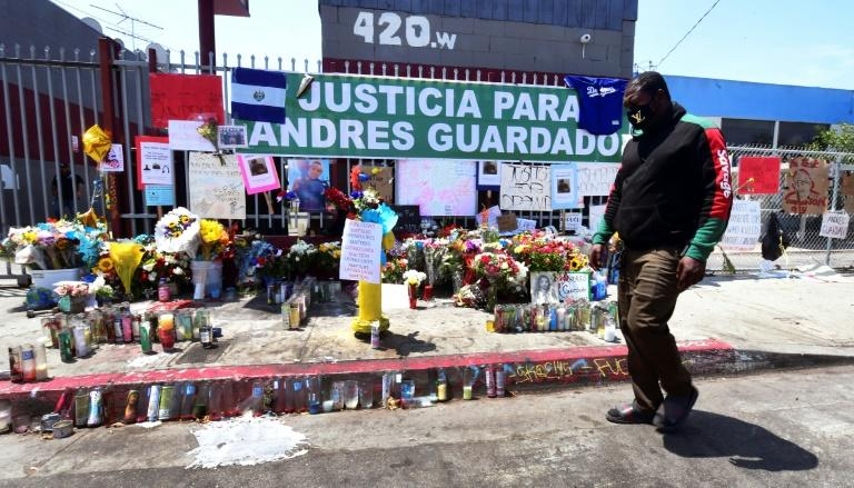 Hundreds of people have gathered to protest Andres Guardado's death