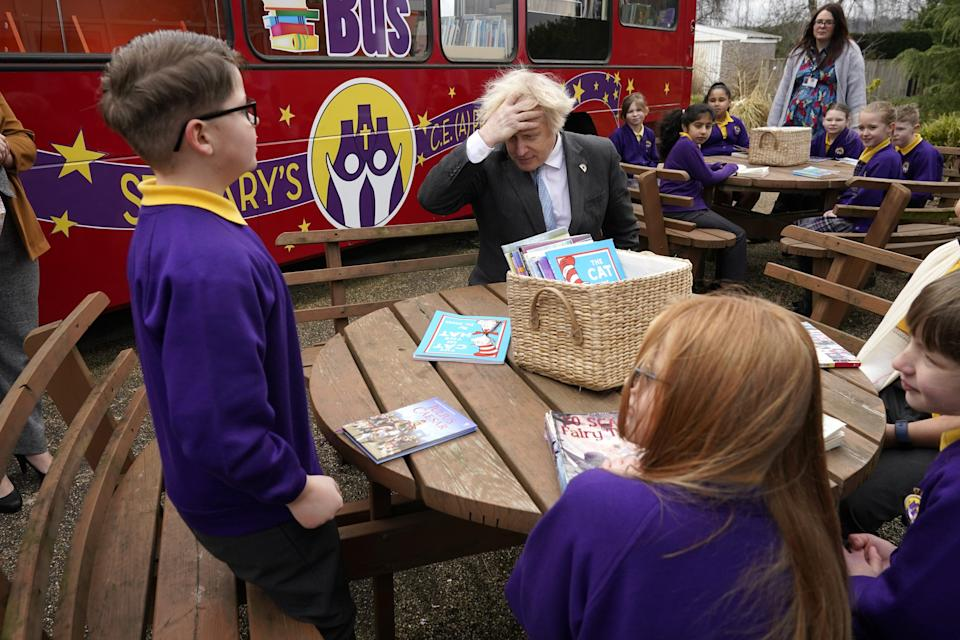 Prime Minister Boris Johnson recalled his own school days during his summit speech (Christopher Furlong/PA) (PA Wire)