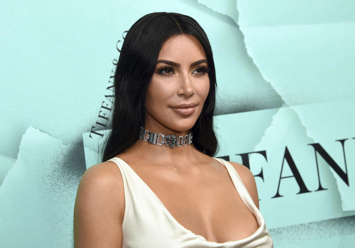 """FILE - This Oct. 9, 2018 file photo shows Kim Kardashian West at the Tiffany & Co. 2018 Blue Book Collection: The Four Seasons of Tiffany celebration in New York. Kardashian's reality series """"Keeping Up with the Kardashians"""" will end with their 20th season this year. (Photo by Evan Agostini/Invision/AP, File)"""