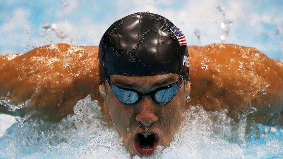 Michael Phelps, most decorated Olympian of all time, wore Speedo's LZR Racer swimsuit during the Beijing 2008 Olympic Games. Full-body styles of the suit were later banned.