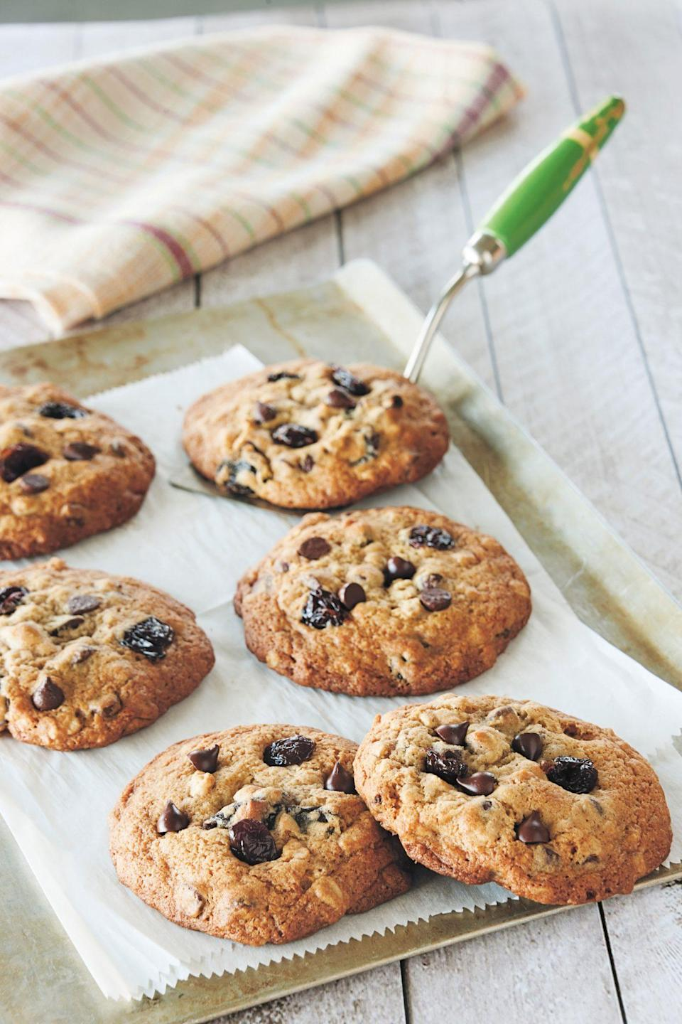 "<p><strong>Recipe: </strong><a href=""http://www.southernliving.com/recipes/chocolate-chip-cherry-cookies-recipe"" rel=""nofollow noopener"" target=""_blank"" data-ylk=""slk:Damaris Phillips' Chocolate Chip Cherry Cookies"" class=""link rapid-noclick-resp""><strong>Damaris Phillips' Chocolate Chip Cherry Cookies</strong></a></p> <p>This is the first recipe that chef and cookbook author Damaris Phillips ever wrote, so you know it's a special one.</p>"