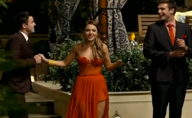 Sam Frost on The Bachelorette. Photo: Supplied.