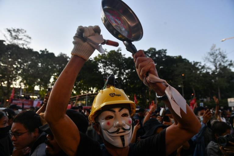 Protesters are calling for for an overhaul to Premier Prayut Chan-O-Cha's government and a scrapping of the country's military-scripted constitution