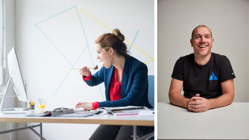 Want to succeed at work? Quit these habits says Atlassian futurist Dom Price (right). Images: Getty