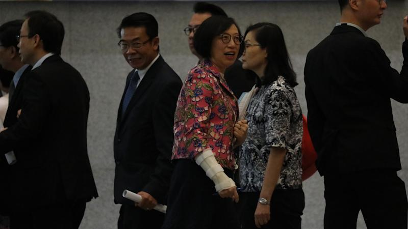 11 EU representatives meet Hong Kong leader Carrie Lam to protest against controversial extradition bill as government gathers 100 officials to build united front