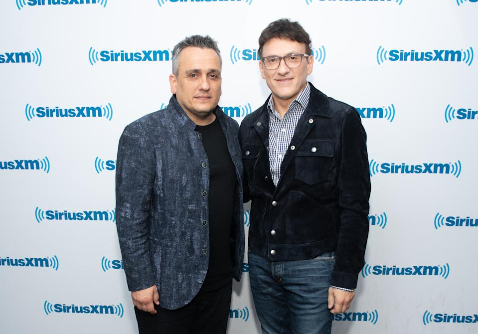 NEW YORK, NEW YORK - MAY 02: Joe Russo and Anthony Russo visit the SiriusXM Studios on May 02, 2019 in New York City. (Photo by Noam Galai/Getty Images)