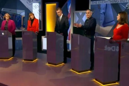 Things got heated on the Channel 4 debate. (Channel 4)