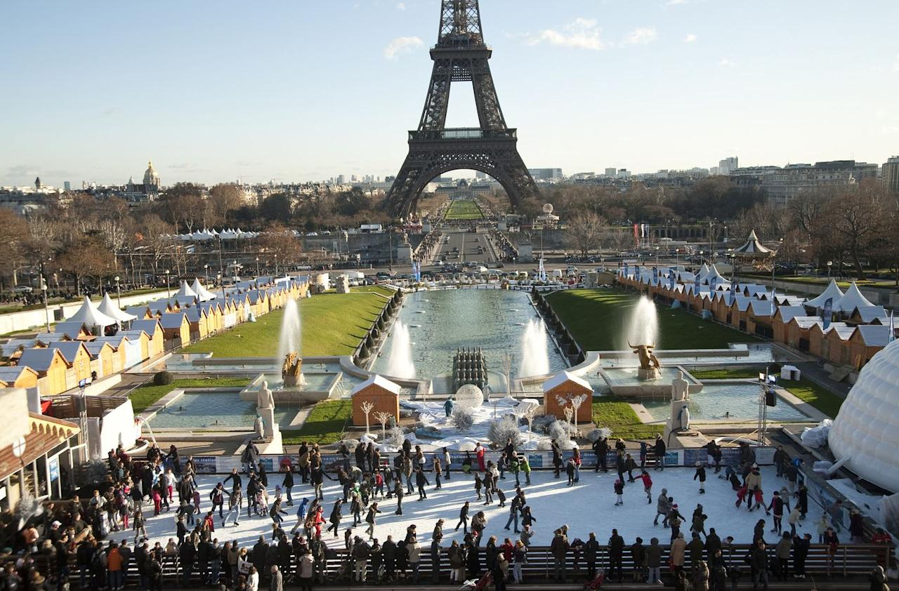 """<p>The Eiffel on Ice Christmas Village is a can't-miss.</p><p><strong>M</strong><strong>ore</strong>: <a href=""""https://www.townandcountrymag.com/leisure/travel-guide/a4643/things-to-do-in-london-at-christmas/"""" target=""""_blank"""">The Best Things to Do in London During Christmas</a><br></p>"""