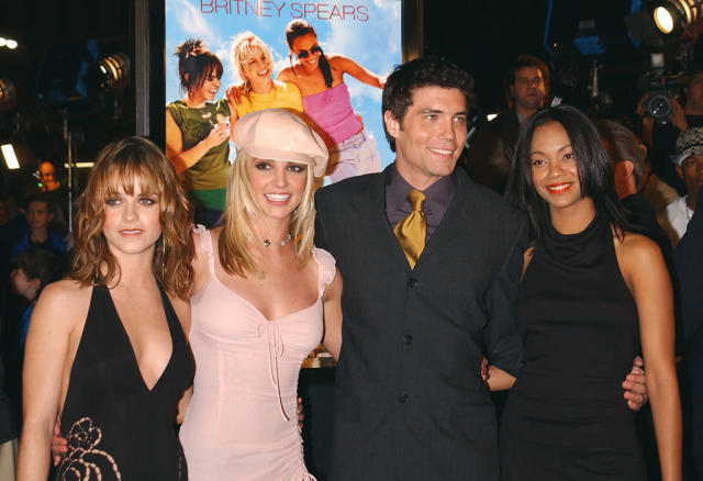 <p><em><em>In 2002, the 24-year-old actress starred in <em>Drumline,</em> and the Britney Spears movie <em>Crossroads</em>. On Feb. 11, 2002, she posed with co-stars Taryn Manning, Spears and Anson Mount in Los Angeles, Calif. (Photo: Frank Trapper/Getty Images) </em></em></p>
