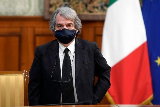 The Minister of Public Administration Renato Brunetta during the signing of the Pact for the innovation of public work between the Government and the Trade Unions at Palazzo Chigi. Rome (Italy), March 10th 2021 (Photo by Samantha Zucchi/Insidefoto/Mondadori Portfolio via Getty Images)