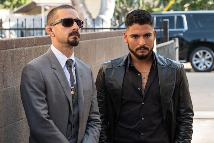 """Shia LaBeouf and Bobby Soto in a scene from """"The Tax Collector"""""""