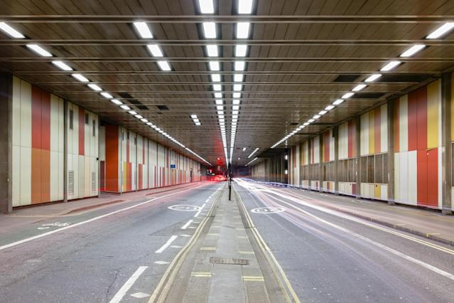 Beech Street tunnel in Barbican, City of London (Picture: Getty)