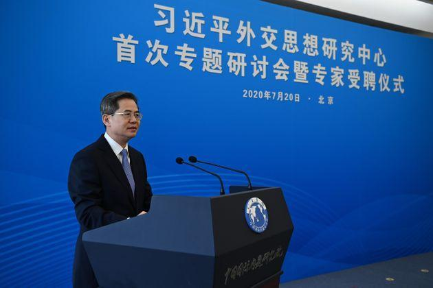 Commons Speaker Lindsay Hoyle said it would not be 'appropriate' forZheng Zeguang (pictured) to visit the parliamentary estate while MPs remained under sanctions by China. (Photo: China News Service via Getty Images)