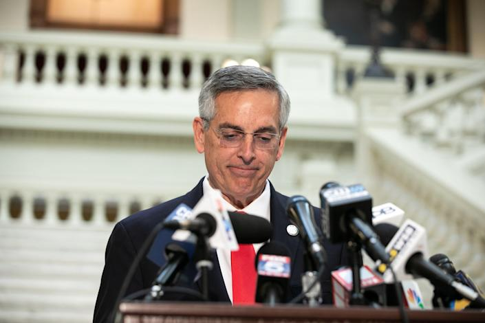 <p>Georgia's secretary of state ordered a recount of the votes in the state, but it is so far not expected to change the result</p> (Getty Images)