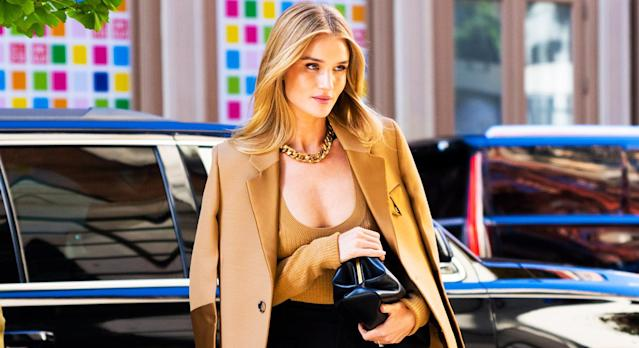 Rosie Huntington-Whiteley is among many celebrities and influencers who own the Bottega Veneta 'It' bag - and we have found more affordable alternatives [Photo: Getty]