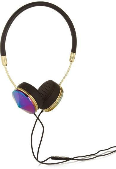 <p>Forget about using cheap headphones and grab a pair of these <span>Frends Layla Leather And Iridescent Metal Headphones in Black</span> ($106, originally $176). You'll get the sound you want and look cool.</p>