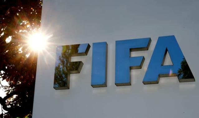 FILE PHOTO: Logo of FIFA is seen in Zurich