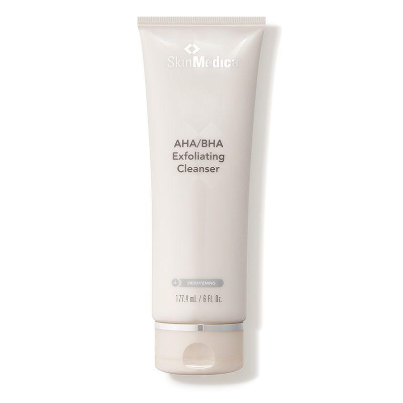 """<p><strong>SkinMedica</strong></p><p>dermstore.com</p><p><strong>$47.00</strong></p><p><a href=""""https://go.redirectingat.com?id=74968X1596630&url=https%3A%2F%2Fwww.dermstore.com%2Fproduct_AHABHA%2BExfoliating%2BCleanser_53511.htm&sref=https%3A%2F%2Fwww.marieclaire.com%2Fbeauty%2Fg35218066%2Fbest-products-for-acne-scars%2F"""" rel=""""nofollow noopener"""" target=""""_blank"""" data-ylk=""""slk:SHOP IT"""" class=""""link rapid-noclick-resp"""">SHOP IT </a></p><p>Cleansing offers another opportunity to lift spots and exfoliate scarring, like this one with a potent combo of surface buffing AHAs and pore clearing BHAs. </p>"""