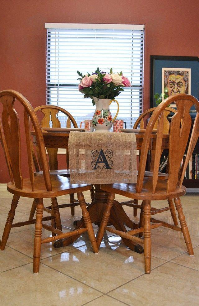 "<p>You have your center pieces set, so why not add a <a href=""https://momspark.net/diy-monogrammed-burlap-runner/"" rel=""nofollow noopener"" target=""_blank"" data-ylk=""slk:burlap table runner"" class=""link rapid-noclick-resp"">burlap table runner</a> for an extra decorative aspect? Use heat transfer vinyl to add a monogram or detail on the end.</p><p><a class=""link rapid-noclick-resp"" href=""https://loveleovinyl.com/shop/ols/products/black-easyweed"" rel=""nofollow noopener"" target=""_blank"" data-ylk=""slk:BUY NOW"">BUY NOW</a> <em><strong>Black heat transfer vinyl, $3.50</strong></em><br></p>"