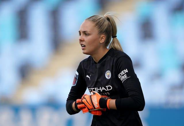 Manchester City's Ellie Roebuck is among the young trio of goalkeepers in Riise's squad (Tim Goode/PA).