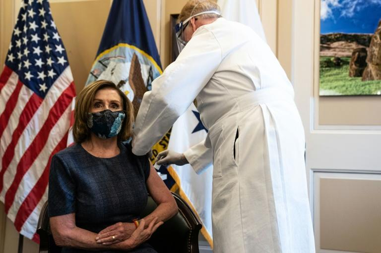 House Speaker Nancy Pelosi said more federal aid will be needed to crush the virus and buy more vaccines