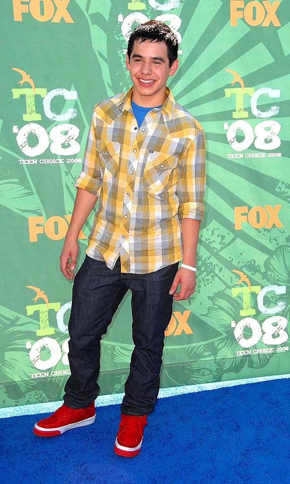"""American Idol"" runner-up David Archuleta hit a bad note in this mismatched mess. Steve Granitz/<a href=""http://www.wireimage.com"" target=""new"">WireImage.com</a> - August 3, 2008"