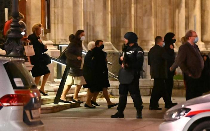 The shooting began just hours before Austria was to re-impose a coronavirus lockdown, with people out in bars and restaurants