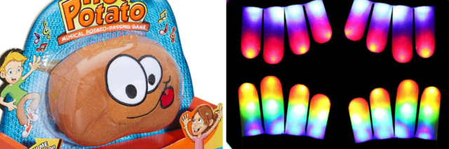 Hor potato and glow in the dark gloves