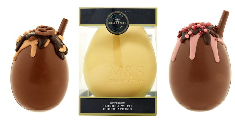 M&S has also launched brand new Easter Sundae Eggs, as well as an indulgent white chocolate treat. (M&S)