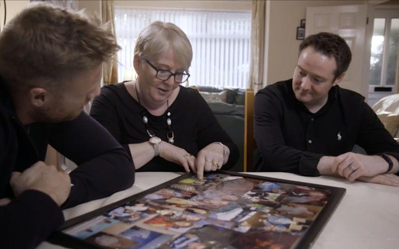 Freddie meets the mother and brother of Laurence Nugent who died of bulimia aged 24 - BBC/South Shore