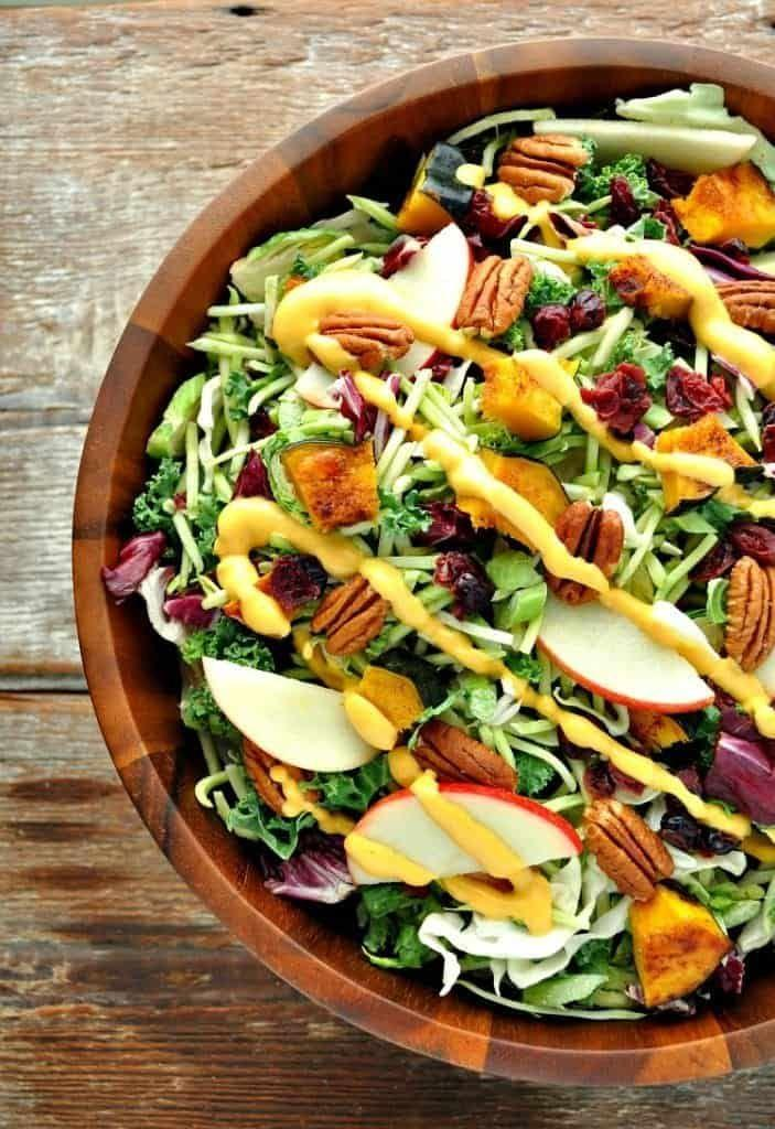 """<p>Go home, green goddess.</p><p>Get the recipe from<span class=""""redactor-invisible-space""""> <a href=""""http://www.theseasonedmom.com/healthy-thanksgiving-side-dish-fall-harvest-salad-with-pumpkin-goddess-dressing/"""" rel=""""nofollow noopener"""" target=""""_blank"""" data-ylk=""""slk:The Seasoned Mom"""" class=""""link rapid-noclick-resp"""">The Seasoned Mom</a>.</span></p>"""
