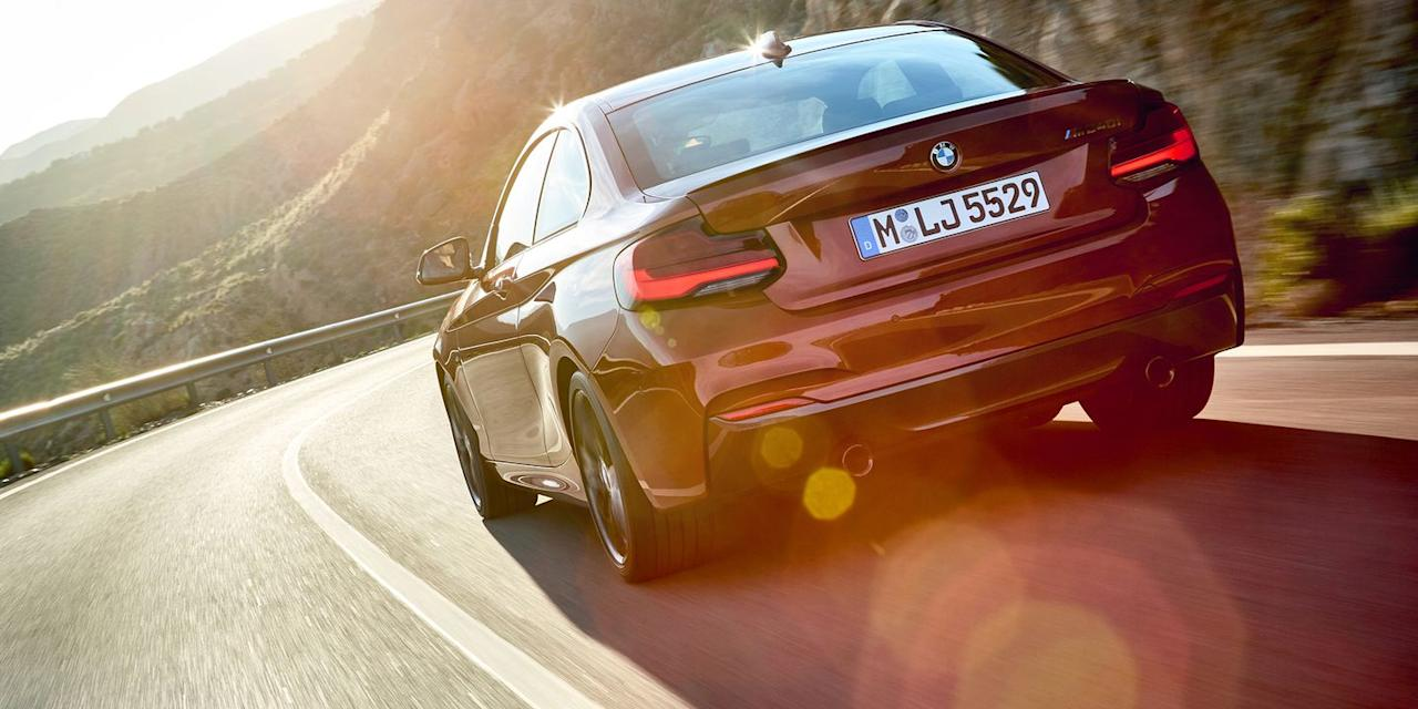 "<p>Sadly, the excellent BMW M2 doesn't slot in under $50,000, but both the four-cylinder 230i and the six-cylinder M240i do. Our pick is actually the 230i for its sweet handling and punchy 2.0-liter turbocharged motor, but the M240i offers nearly the same amount of performance as the M2. <a rel=""nofollow"" href=""http://www.roadandtrack.com/car-culture/a29245/bmw-2-series-comparison-test/"">The 2-Series</a> might be BMW's cheapest car, but it's one of our favorites too.</p>"