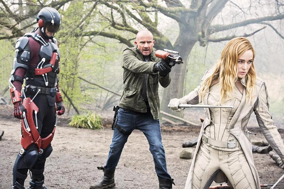 """<p><b>This Season's Theme:</b> """"The inmates are running the asylum,"""" says executive producer Phil Klemmer. Now that Vandal Savage and the corrupt Time Masters have been defeated, the team sets out to track down time criminals themselves. The question is, """"Will they screw history up more than they fix it? Because when you unleash Mick Rory on any time period, there's always that chance.""""<br><br><b>Where We Left Off: </b> Hourman of the Justice Society of America warns the remaining Legends that if they board the Waverider once again, they will all die. <br><br><b>Coming Up: </b> Last season was heavy on the doom and gloom, centered mostly on Rip's dead family and the seemingly inevitable destruction of the planet. This year will focus on the fun of time travel. """"You should get to fight in the Civil War if that's what you want to do and you should get to ride a T. Rex if that's what you want to do!"""" <br><br><b>The Justice Society of America: </b> <i>Legends</i> inherited most of its superheroes from other shows, but this year, they get to introduce an entirely new team. Fresh faces will include Commander Steel (Matthew MacCaull), the Golden Age version of Vixen (Maisie Richardson-Sellers), Star Girl (Sarah Grey), and Obsidian (a legend in his own right, Lance Henriksen). <i>– RC</i> <br><br>(Credit: Dean Buscher/The CW)</p>"""