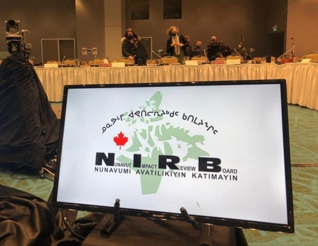 Day one of the Nunavut Impact Review Board's final public hearings into Baffinland's Phase 2 expansion proposal at its Mary River Mine began Monday, April 12 in Iqaluit.   (Nick Murray/CBC News - image credit)