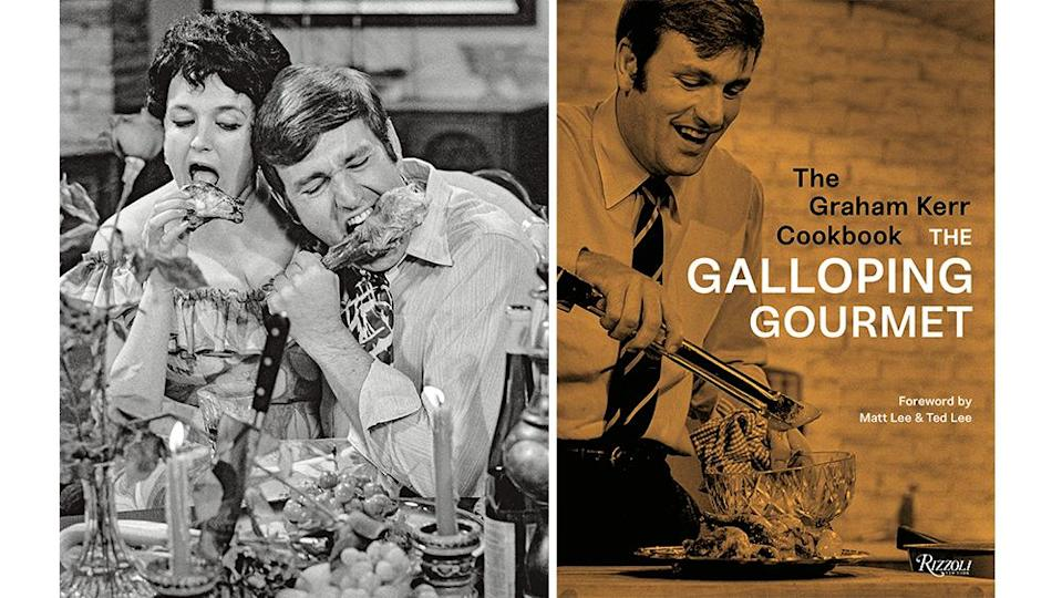 """A still from """"The Galloping Gourmet"""". The cookbook reissued in 2018."""
