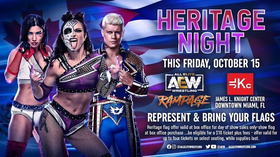 AEW Heritage Night on Friday, Oct. 15 at the James L. Knight Center in Miami.