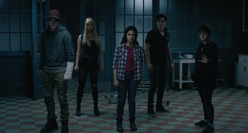 Charlie Heaton, Anya Taylor-Joy, Blu Hunt, Henry Zaga and Maisie Williams in The New Mutants. (Twentieth Century Studios)