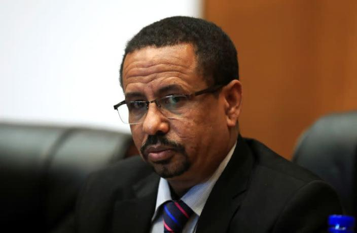 Chief Executive of the Provisional Administration of Tigray National Regional State, Mulu Nega addresses a news conference in Addis Ababa