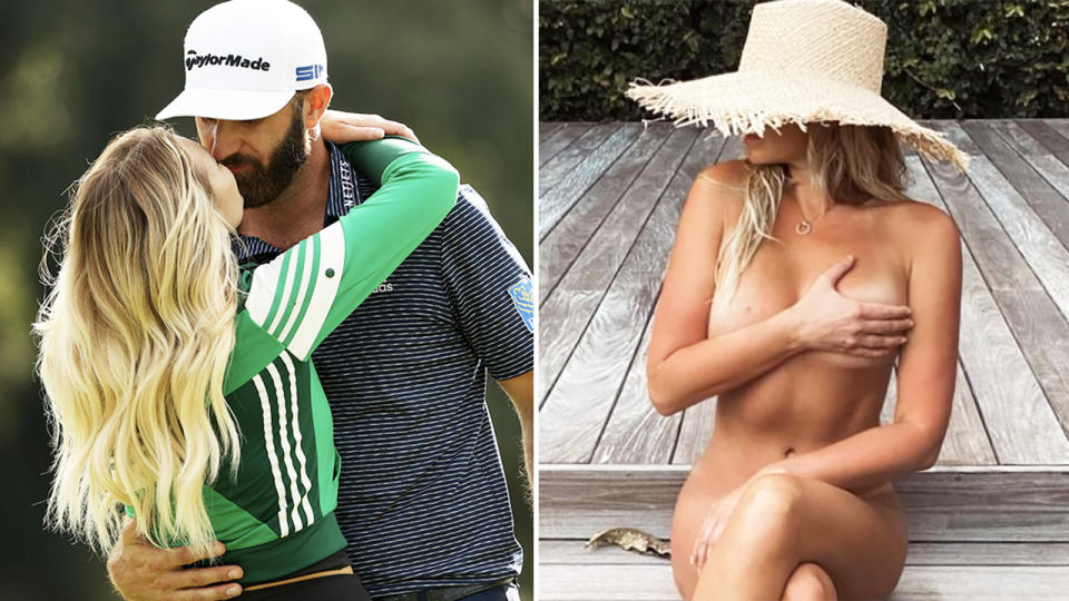 Paulina Gretzky, pictured here on holidays with Dustin Johnson.