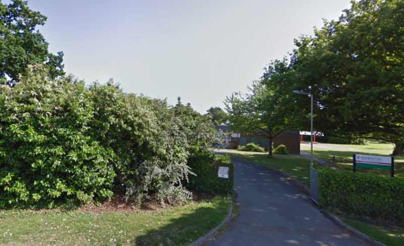 Pennington Infant School in Hampshire has closed after a pupil tested positive for coronavirus (Google)