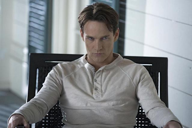 After becoming a devout follower of the Sanguinista Movement, drinking Lilith's sacred and powerful blood, and engineering the attacks on Tru Blood factories to force mainstreaming vampires to feed on humans, Bill Compton (Stephen Moyer) developed quite the God complex, and even Sookie and Eric are running scared.